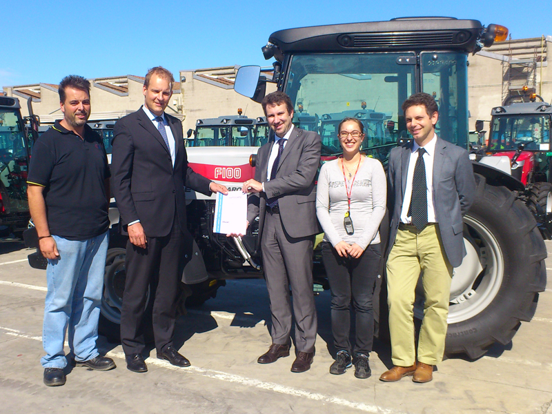 Carraro Agritalia has achieved ISO14001 certification,