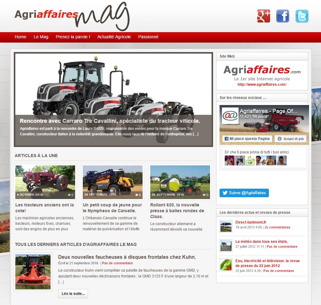 Agriaffaires writes about us