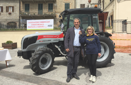 "Carraro Tractors with ""Montemonaco nel Cuore"""