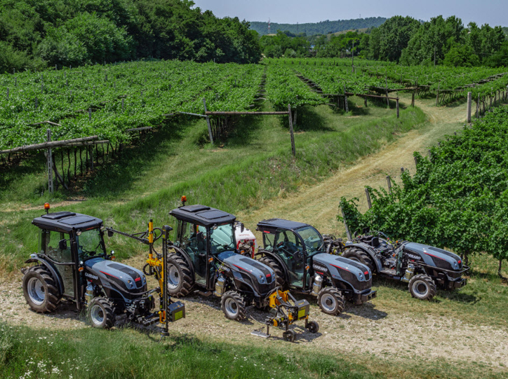 The new Carraro Agricube range of tractors is presented at Enovitis