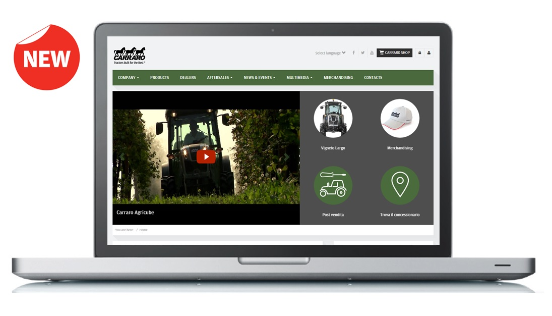 The new carrarotractors.com website is online