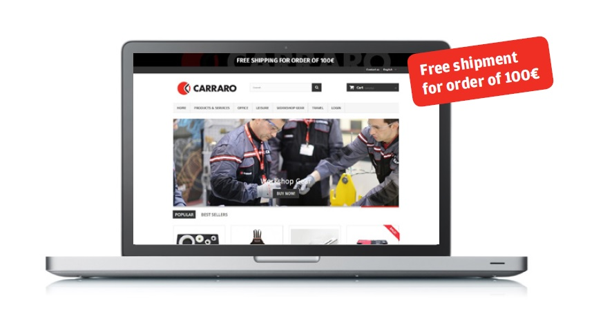 Shop.carraro.com, now shipments also to Europe!